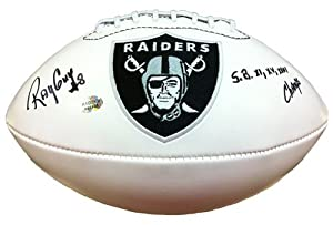 Ray Guy Autographed/Signed Oakland Raiders Logo Football