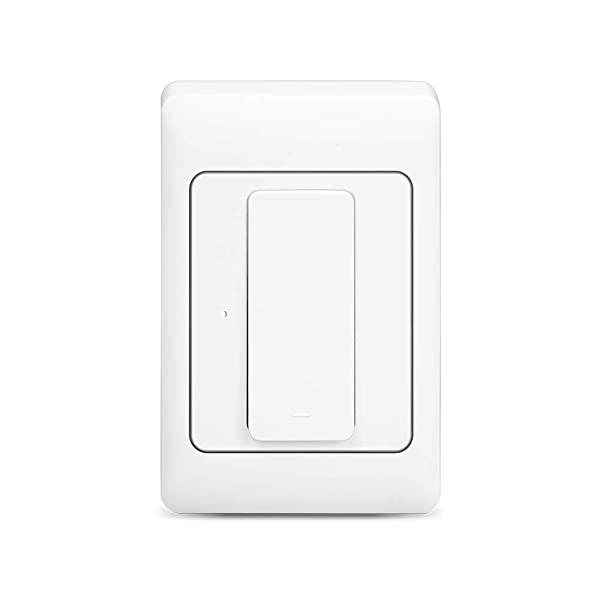Light Switch, WiFi enabled, Compatible with Alexa and the Google Assistant,IFTTT,LED/Incandescent Switch,No Hub Required,Neutral wire requires (one gang) (Tamaño: one gang)