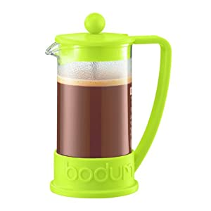Bodum Brazil French Press 0.35-Liter 3-Cup Coffee Maker, 12-Ounce, Green by Bodum