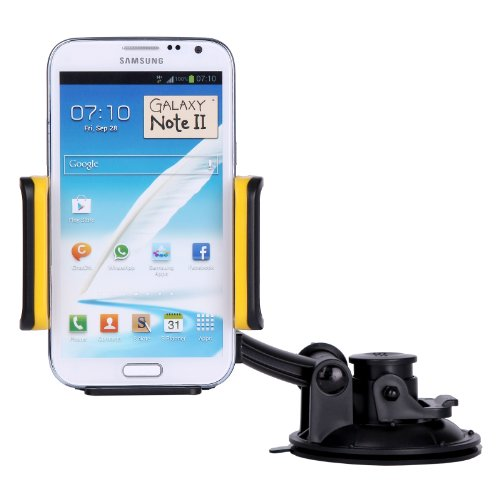 Doublju Car Cell Phone Holder Case Mount For All Phone I-Phone Yellow