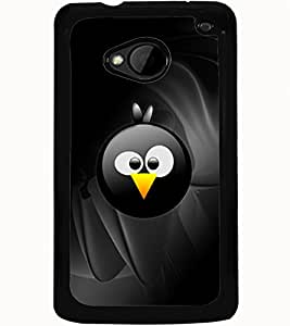 ColourCraft Cute Cartoon Bird Face Design Back Case Cover for HTC ONE M7