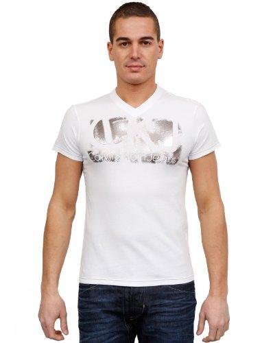 Calvin Klein Cmp52s-j1200-001 Flare White Man T-shirts Make Men - Xl
