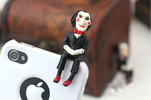 Zoeast Cool Saw Jigsaw Billy Puppet Dust Plug 3.5Mm Smart Cell Mobile Phone Plug Headphone Jack Earphone Cap Ear Cap Dustproof Plug Charm Iphone Plug Charm For Iphone 4 4S 5 5S Htc Samsung Ipad 2 3 4 Mini Ipod Blackberry Sony Nokia Etc. (Saw Jigsaw Puppet