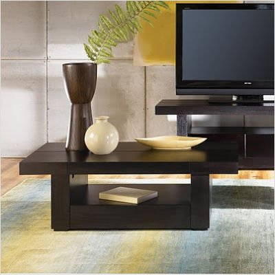 Sitcom Petra Lift Top Coffee Table w, Hidden Drawer Storage in Java Finish