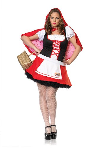 Lil Miss Red Costume - Plus Size 1X/2X - Dress Size 16-20 (Lil Miss Red Costume compare prices)