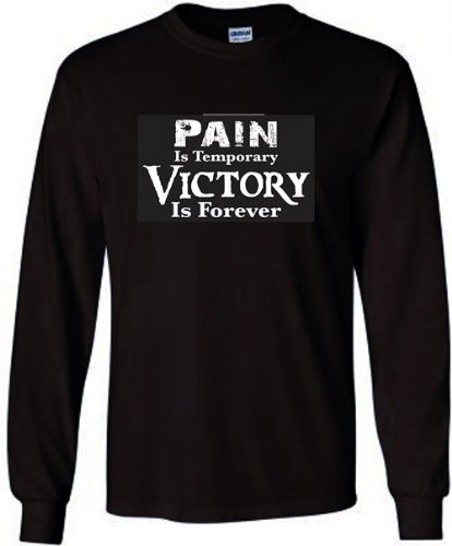 Fair Game-Rugby Long Sleeve T-Shirt: Pain is Temporary Victory is Forever