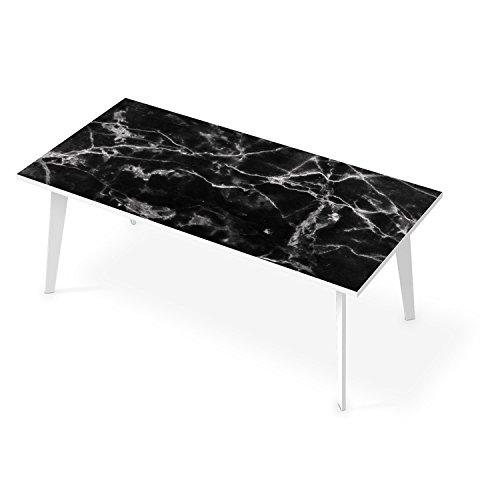 Dekosticker-fr-Tisch-200x100-cm-Klebesticker-Aufkleber-Tapete-Folie-Schner-Wohnen-Tischaufkleber-Design-Motiv-Marmor-schwarz