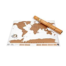 Large Scale Scratch off Map for World Travel