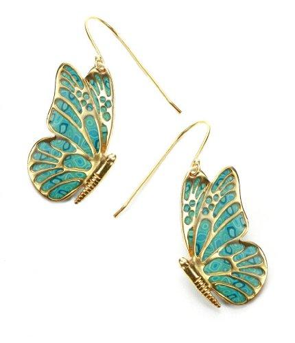 Pendientes de Mariposa en Plata Bañada Oro