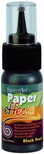 Paper Effects Paint 1oz Squeeze Bottle-Black Pearl