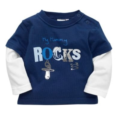 Blue Zoo Baby- Navy 'My mummy rocks' top- 9-12 months