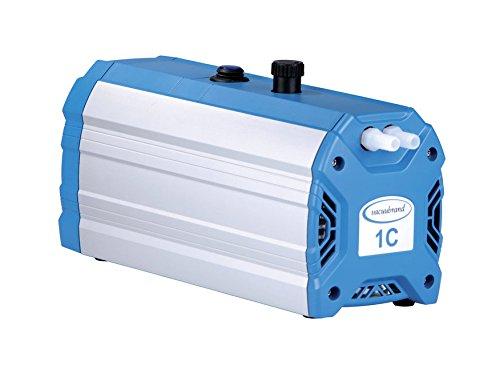 Brandtech 724103 Mz1C Chemistry Design Diaphragm Vacuum Pump, 100-120V, 50/60Hz, 0.5Cfm Free Air Capacity, 12Mbar Ultimate Vacuum