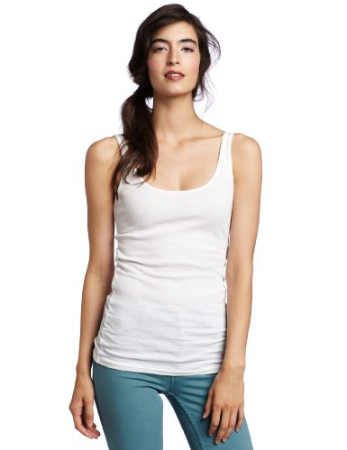 Michael Stars Women's Ribbed Supima Modal Tank, White, One Size (Michael Stars Tank Top compare prices)