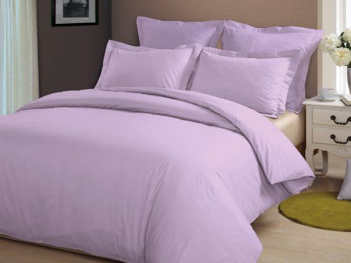 "Congo Linen 610 Tc Italian Finish Egyptian Cotton Luxurious Sheet Set With 18"" Extra Deep Pocket 610 Tc Solid ( Queen , Lilac)"