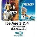 Ice Age 3 & 4 ltd. Steelbook Holo Cover Blu-ray (2D & 3D)