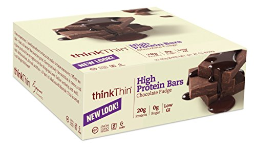 thinkThin High Protein, Chocolate Fudge, 2.1-Ounce Bars (pack of 10)