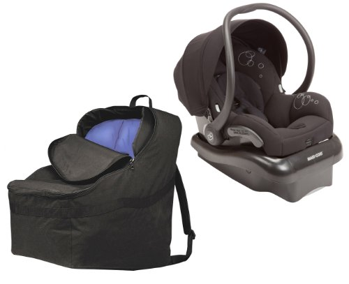 Maxi-Cosi Mico Air Protect Infant Car Seat With Car Seat Padded Travel Bag, Devoted Black