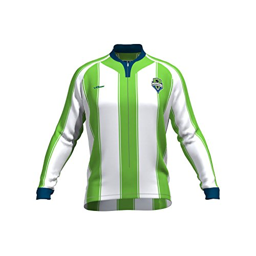 MLS Seattle Sounders FC Men's Original Striped Long Sleeve Cycling Jersey, Large, White (Sounders Cycling Jersey compare prices)