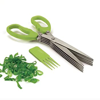 Cutting fresh herbs has never been so easy with this multi-blade herb scissors from Starfrit Gourmet. Cut fresh herbs five times more quickly with the multi-blade design that is easy to use. Great for all types of herbs, it comes with a special clean...