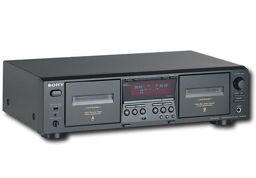 Sony Professional Dual Tape Cassette Player / Recorder - Black