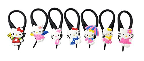 7 pcs Hello Kitty #4 Soft Zipper Pull Charms for Backpack Bag Pendant Jacket