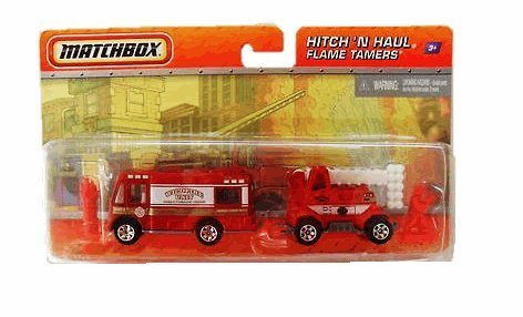 Matchbox Hitch N' Haul Flame Tamers (WildFire Unit Mobile Command Center) by Mattel