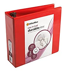 OfficeMax Heavy-Duty Easy-to-Load Slant D-Ring View Binder 3\