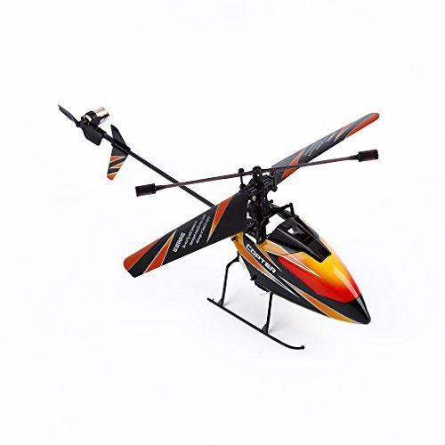 RC Helicopter, Advanced WLtoys V911 Remote Control Mini Single Propeller R/C Helicopter with 2.4 GHz 4CH Gyro (Black&Orange) (Mini Rc Helicopter Blades compare prices)