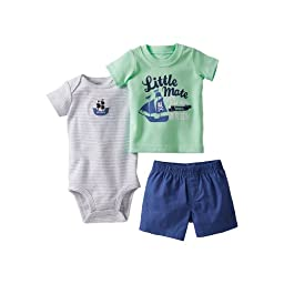 Carter\'s Baby Boys\' 3 Piece Screenprint Diaper Cover Set (Baby) - Green - Newborn