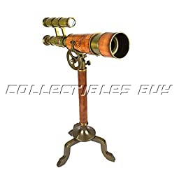 Vintage Marine Nautical Desk double barrel telescope with brass stand Unique Collection items - Collectibles Buy