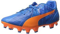 PUMA Evospeed 4 H2H FG JR Soccer Shoe (Big Kid) , Orange Clown Fish/El, 6.5 M US Big Kid