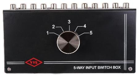 Five Input Source Tabletop Control Switch Box Internal Pc Board Design Metal Case