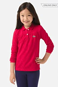 Girl's Long Sleeve Classic Pique Polo