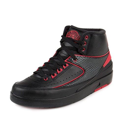 Nike Jordan Men's Air Jordan 2 Retro Black/Varsity Red Basketball Shoe 13 Men US (Michael Jordan Shoes 13 compare prices)