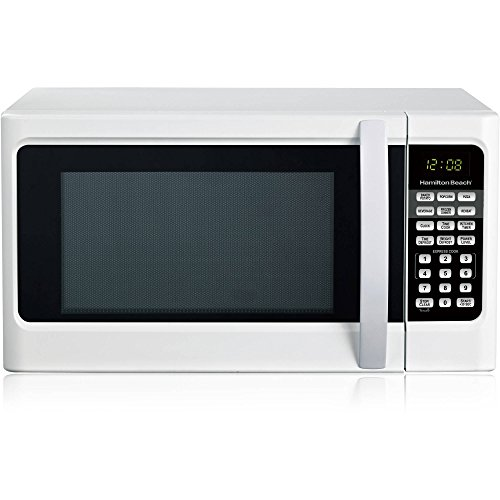 Hamilton Beach 1.1 cu ft Auto Digital Display Countertop Microwave Oven, White (White Toaster Oven Under Cabinet compare prices)