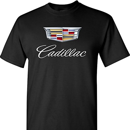 caddy-cadillac-logo-on-a-black-t-shirt