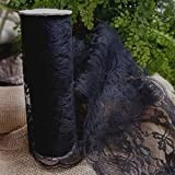 Black Lace Runner, 9 inches wide x 10 yards, Vintage Shabby Chic Wedding