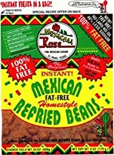 Mexicali Rose Instant Mexican Homestyle Refried Beans 6oz - 7oz Pouch Pack of 6 Fat Free 6oz