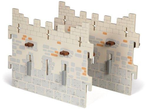 Papo - 60023 - Figurine - Accessoire - Set 4 - Château du Maître des Armes - 2 Grands Murs