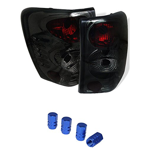 Jeep Grand Cherokee Euro Style Tail Lights Smoke Lens With Chrome Housing + Free Gift Tires Valve Stem Cap 4pcs. (99 Jeep Grand Cherokee Tires compare prices)