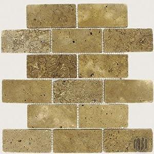 montego sela mesquite 2x4 brick pattern travertine tumbled