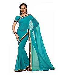 SRP Fashion Selection Women's Georgette Saree (SRP-OF50, Blue)