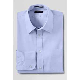 Lands 39 end men 39 s big tall traditional Straight collar dress shirt