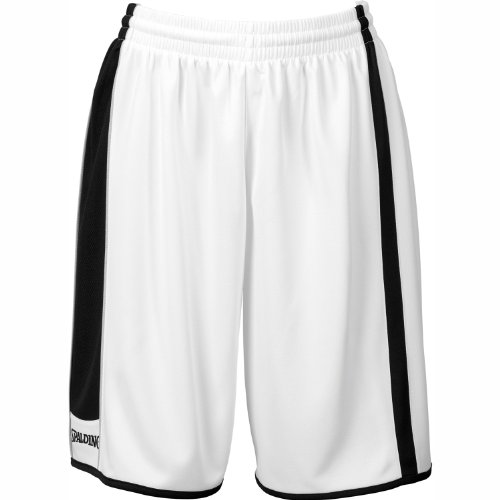 Spalding 4her Shorts, Size: XXL; Color: Bianco/Nero/Argento