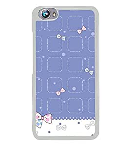 Cute Hair Bow Pattern 2D Hard Polycarbonate Designer Back Case Cover for Micromax Canvas Fire 4 A107