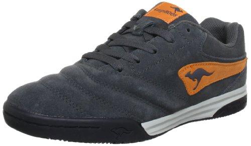 KangaROOS Artus-Kids Trainers Boys grey Grau (charcoal/brightapricot 275) Size: 3 (36 EU)