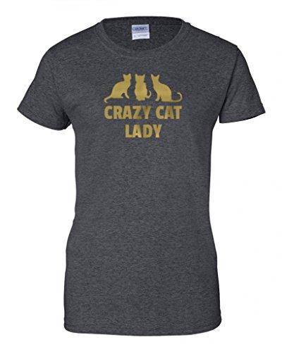 Brass Pepper - Crazy Cat Lady T-Shirt (Dkheather-3Xl)