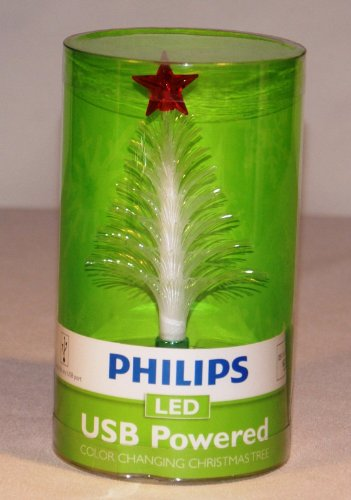 Philips Usb Powered Color Changing Led Christmas Tree Green Star With Red Base