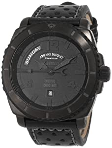 Armand Nicolet Men's 9610N-NR-P160NG4 S05 Sporty Mechanical D.L.C. Black Treated Stainless-Steel Wa
