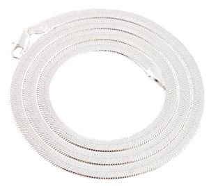 JOTW 3 Pieces of Silvertone 4mm 20 Inch Herringbone Chain Necklace
